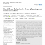 NEW PUB: WUTICH ET AL.: HOUSEHOLD WATER SHARING: A REVIEW OF WATER GIFTS, EXCHANGES, AND TRANSFERS ACROSS CULTURES